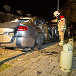 Audi explodeert in Zandvoort: Man gewond