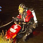 Hulpdiensten massaal in actie voor te water geraakte scooter
