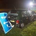 Twee gewonden bij kop-staart aanrijding op de Drie Merenweg