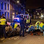 Twee gewonden bij botsing tussen scooter en snorscooter op de Nassaulaan