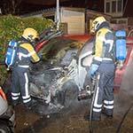 Derde autobrand in nieuwjaarsnacht in de Veenpolderstraat