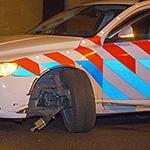 Politiewagen betrokken bij ongeval op de A9 bij Badhoevedorp