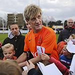 Koninklijke HFC tegen de Ex-Internationals nieuwjaars voetbalwedstrijd