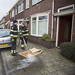 Woningbrandje aan de Jan Gijzenkade in Haarlem