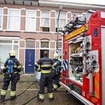 Woningbrand in de Tweede Vooruitgangstraat in Haarlem-Oost