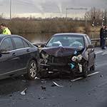 Twee gewonden bij ongeval op de N200 bij Halfweg