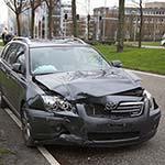 Veel schade bij verkeersongeval op de Fokkerweg op Schiphol
