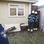 Schuur in de brand gevlogen op woonwagenkamp aan de Vondelweg