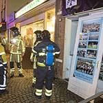Brandweer op onderzoek in pand van voormalig bar en dancing Scandals