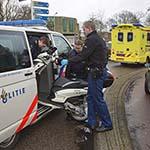 Scooterrijder gewond na ongeval op de Zandvoorterweg