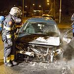 Auto in de brand gevlogen aan de Ringweg in Spaarndam