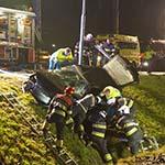 Twee gewonden bij zwaar ongeval tussen personen en politiewagen in Hoofddorp