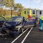 Twee gewonden bij kettingbotsing met vier voertuigen