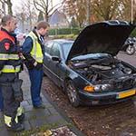 Auto in de brand gevlogen in de Adriaan Pauwlaan in Heemstede