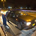 Automobilist aangehouden na verkeersongeval op de Kruisweg