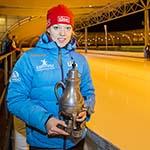 Kraantje Lek schaatstoernooi gewonnen door Yvonne Nauta