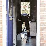 Koelkast in de brand gevlogen in de Graaf Willemstraat