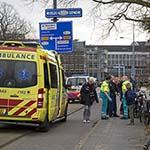 Fietsster gewond na aanrijding met scooter bij het Frans Halsplein
