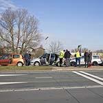 Fikse file na ongeval met vier voertuigen op de Amsterdamsestaatweg