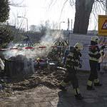 Elektrakast in de brand gevlogen aan de Delftstraat in Haarlem