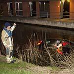 Auto te water in Velserbroek, bestuurder stapt ongedeerd uit