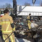 Inhoud vuilwagen in de brand gevlogen in Amstelveen