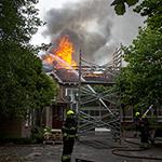 Zeer grote brand bij de Bos en Duinschool in Bloemendaal