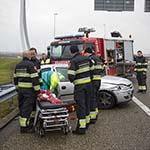 Man gewond bij verkeersongeval op de A5 bij Lijnden