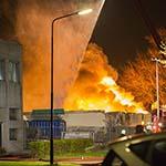 Zeer grote brand bedrijfsterrein Nobelstraat Heerhugowaard