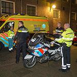 Fietser blijft met stuur aan politieagent hangen en raakte gewond